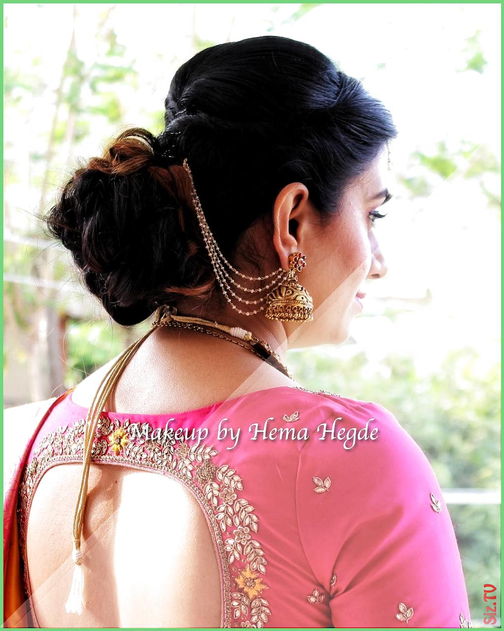 Hairstyle Bun Wedding Indian Hairstyle Bun In 2020 Indische Kleidung Saree Frisuren Indische Hochzeitsfrisuren
