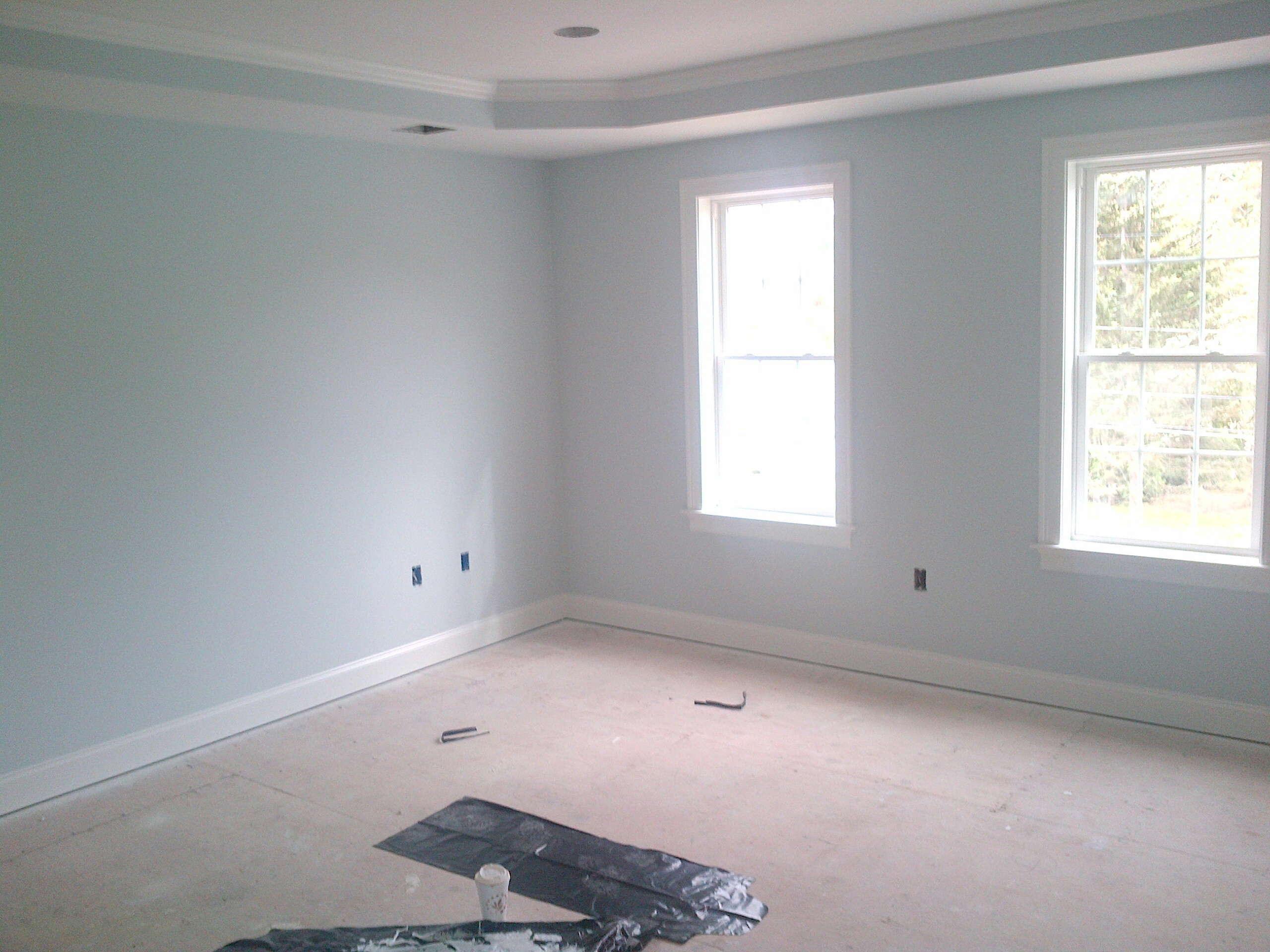Benjamin Moore Glass Slipper Grey Painted Walls Paint Colors