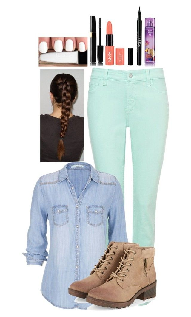 """""""#BackToSchool"""" by tumblr-outfits12 ❤ liked on Polyvore featuring NYDJ, maurices, Stila, women's clothing, women, female, woman, misses and juniors"""