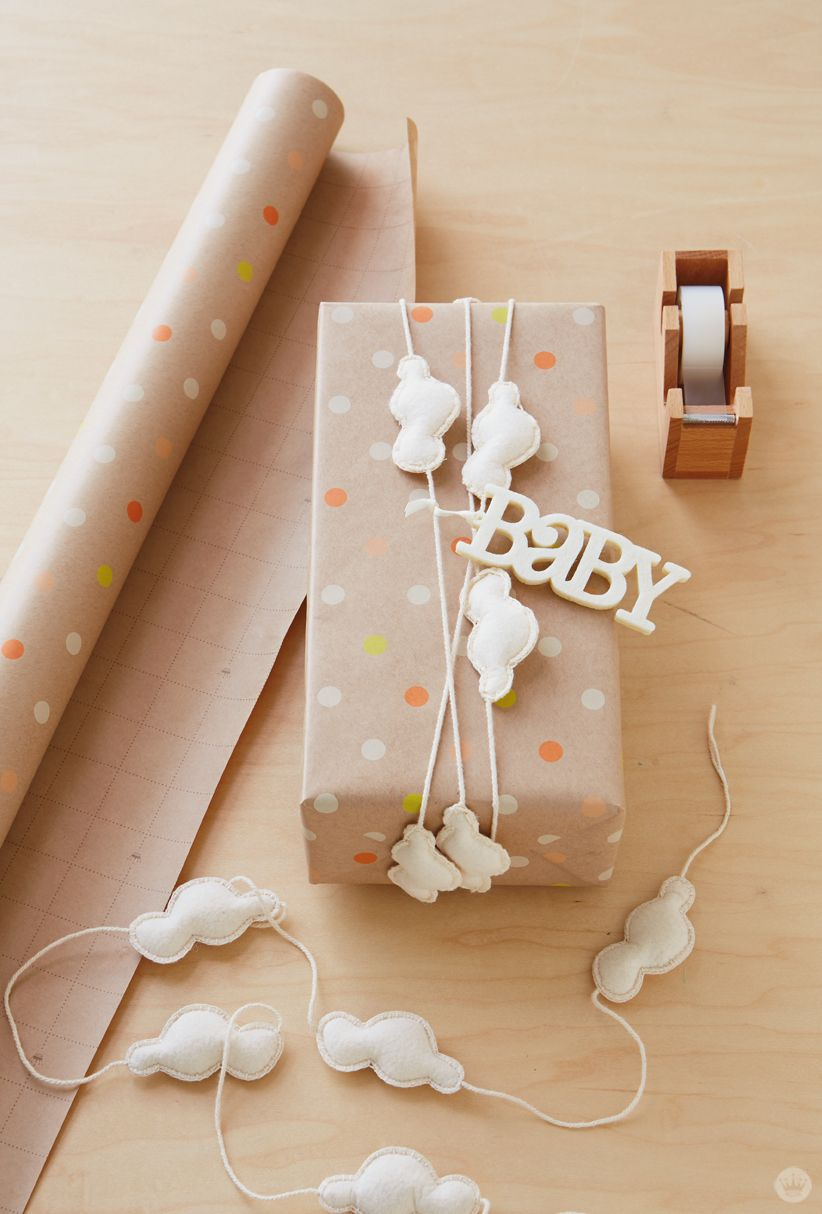 Uncategorized Wrap A Sweet baby gift wrap ideas showered with love felt garlands and if youre headed to a shower try these really make your memorable little diy magic s