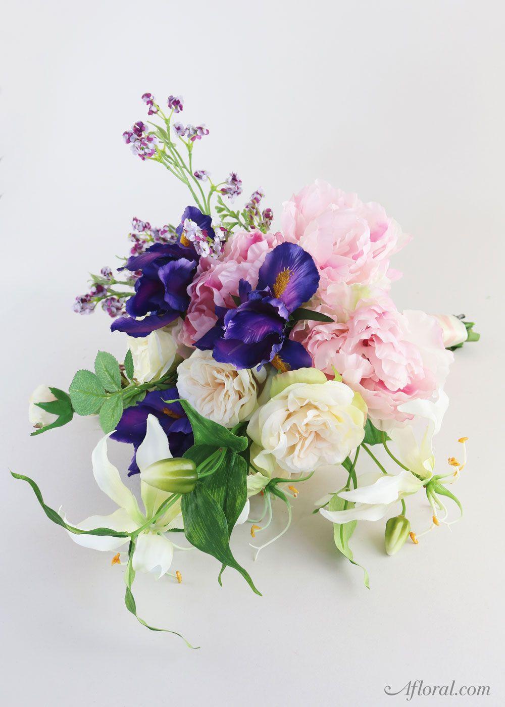 Silk Flower Wedding Bouquet. Make your own bridal bouquet