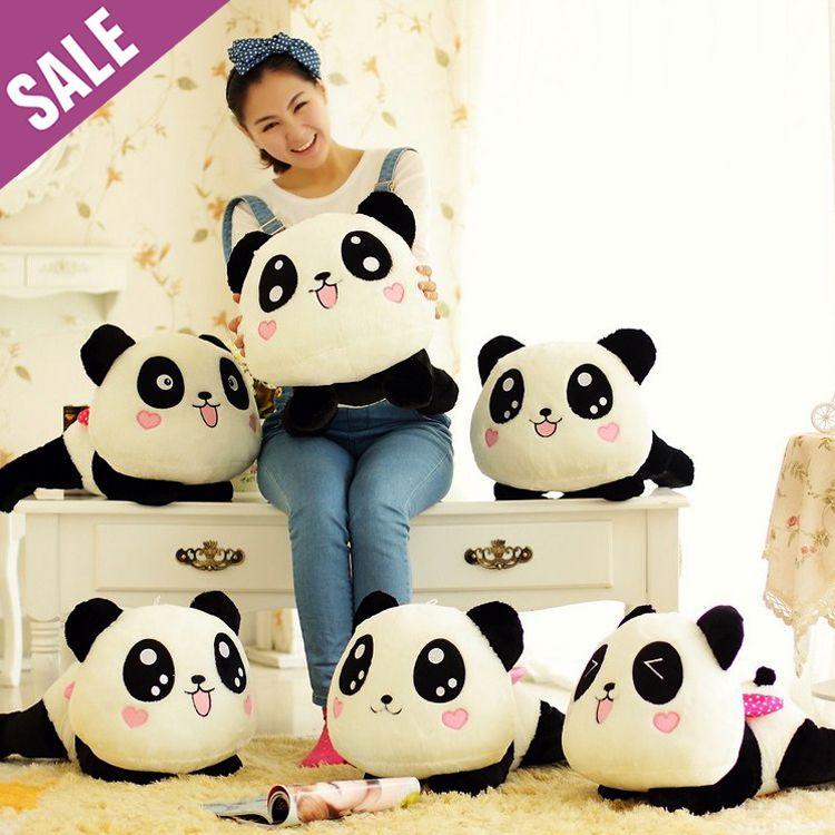 لطيف الباندا وسادة وسادة ديكور المنزل الوسائد وسائد لينة لعبة دمية هدية مثالية للأطفال صديق سريع مجاني في Multifuncti Panda Pillow Plush Dolls Kawaii Plush