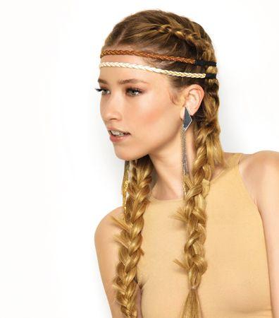 DIVINE AMAZONE Deux tresses indiennes larges de chaque coté. SaintAlgue  coiffure cheveux
