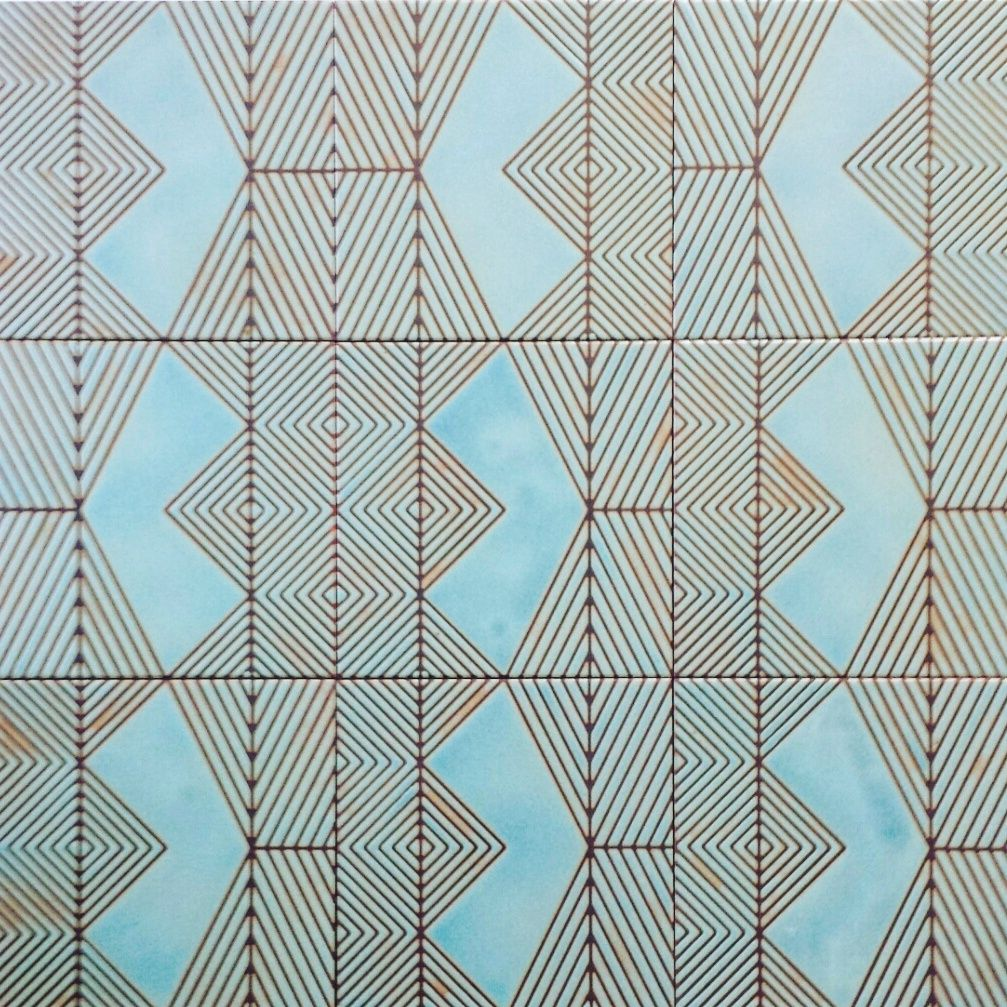 KISMET SALOME pattern ceramic tile in AZURE glaze | KISMET TILE ...