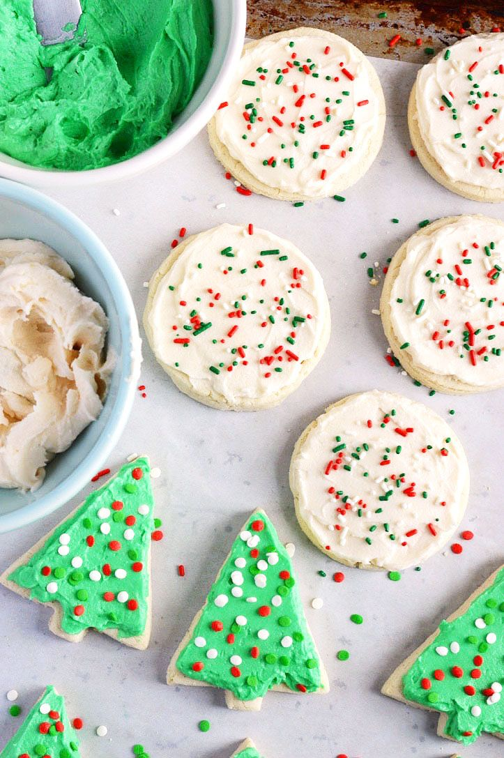 Gluten Free Frosted Sugar Cookies from What The Fork Food Blog | whattheforkfoodblog.com