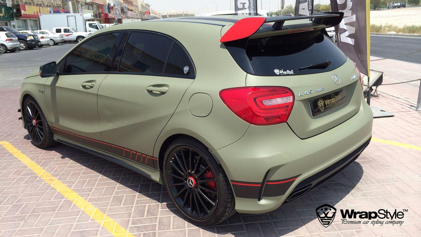 Mercedes a45 combat green 03 wrapstyle car wrap foil 10 47 48 flickr photo