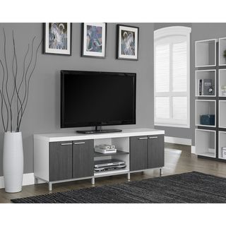 white and grey hollowcore 60inch tv console
