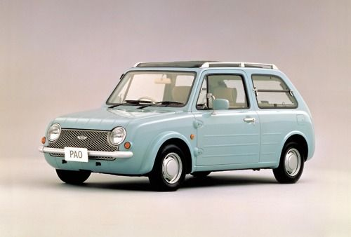 987 Nissan Pao Concept. I saw this car for the first time last night in Vancouver, so amazing. Look at that louver window in the back!