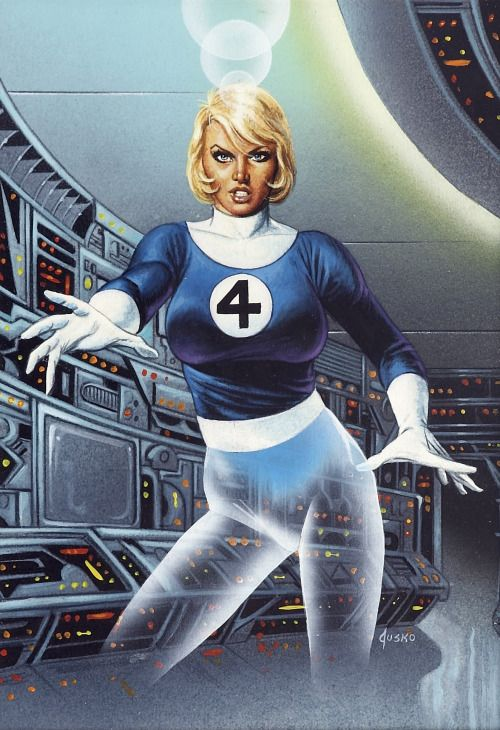 Invisible woman by joe jusko nerdy stuff pinterest - Femme invisible 4 fantastiques ...