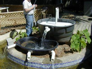 How to build a waterfall koi pond pinterest pond for Yard pond filters