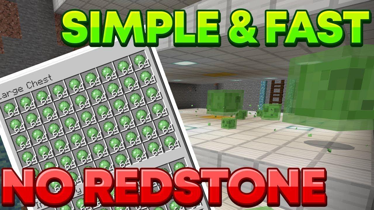 Minecraft Bedrock Java Edition 1 16 Slime Farm Easy No Redstone Need Minecraft Farm Slime Farm Minecraft Slime