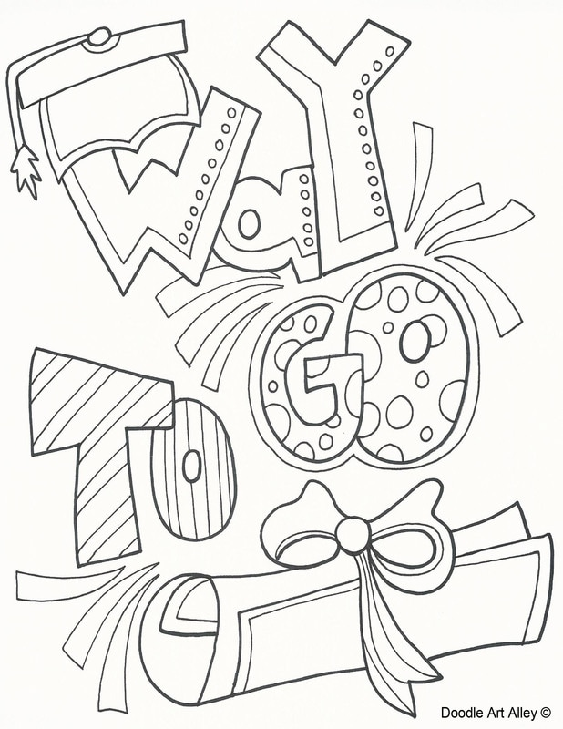 Graduation Coloring Pages Doodle Art Alley Kids Graduation Kindergarten Graduation Coloring Pages