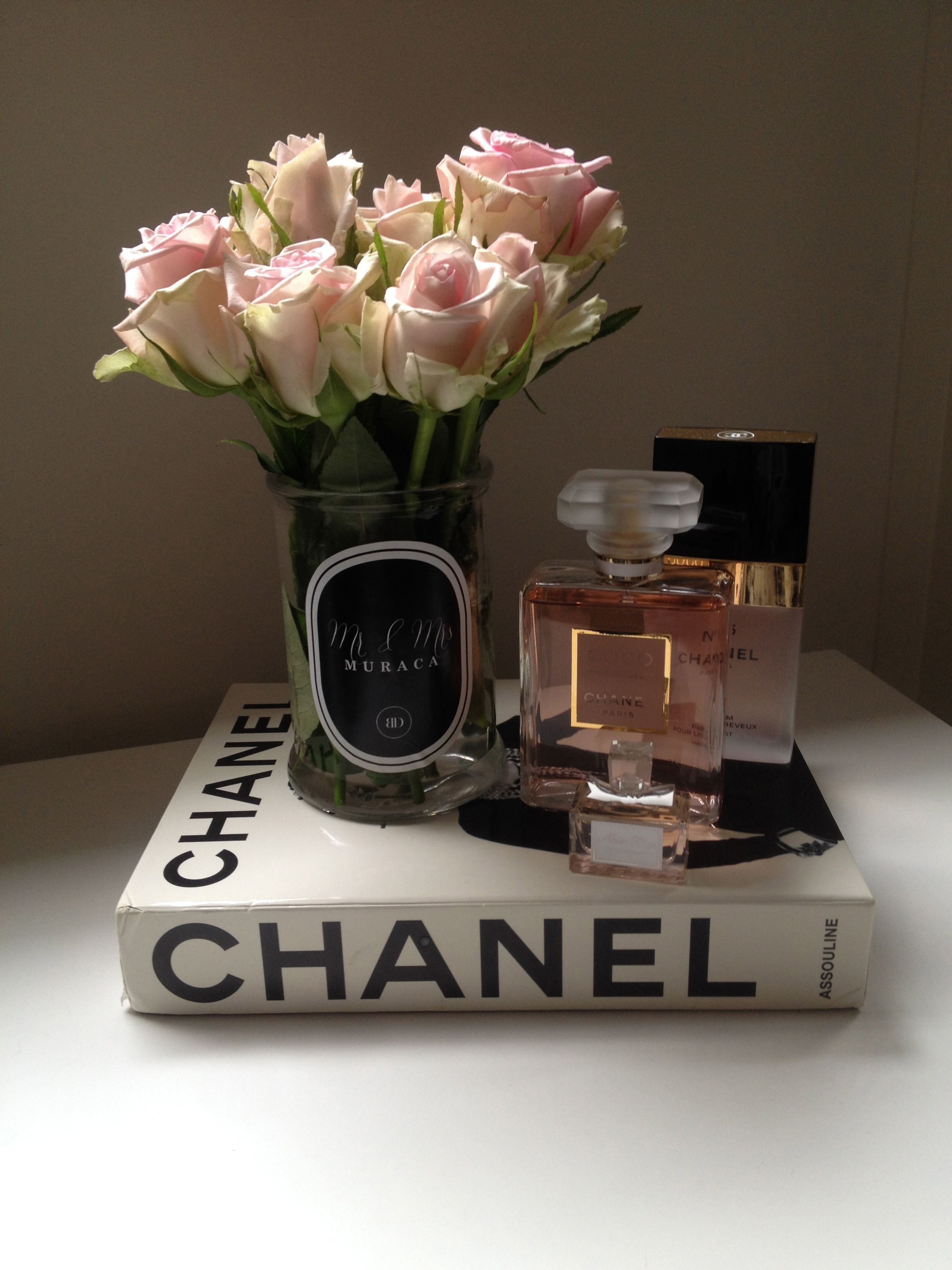 Pink White Roses Chanel Book Chanel Madam Mademoiselle