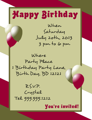 Happy Birthday Flyer Template Happy Birthday Template Birthday Flyer Birthday Template