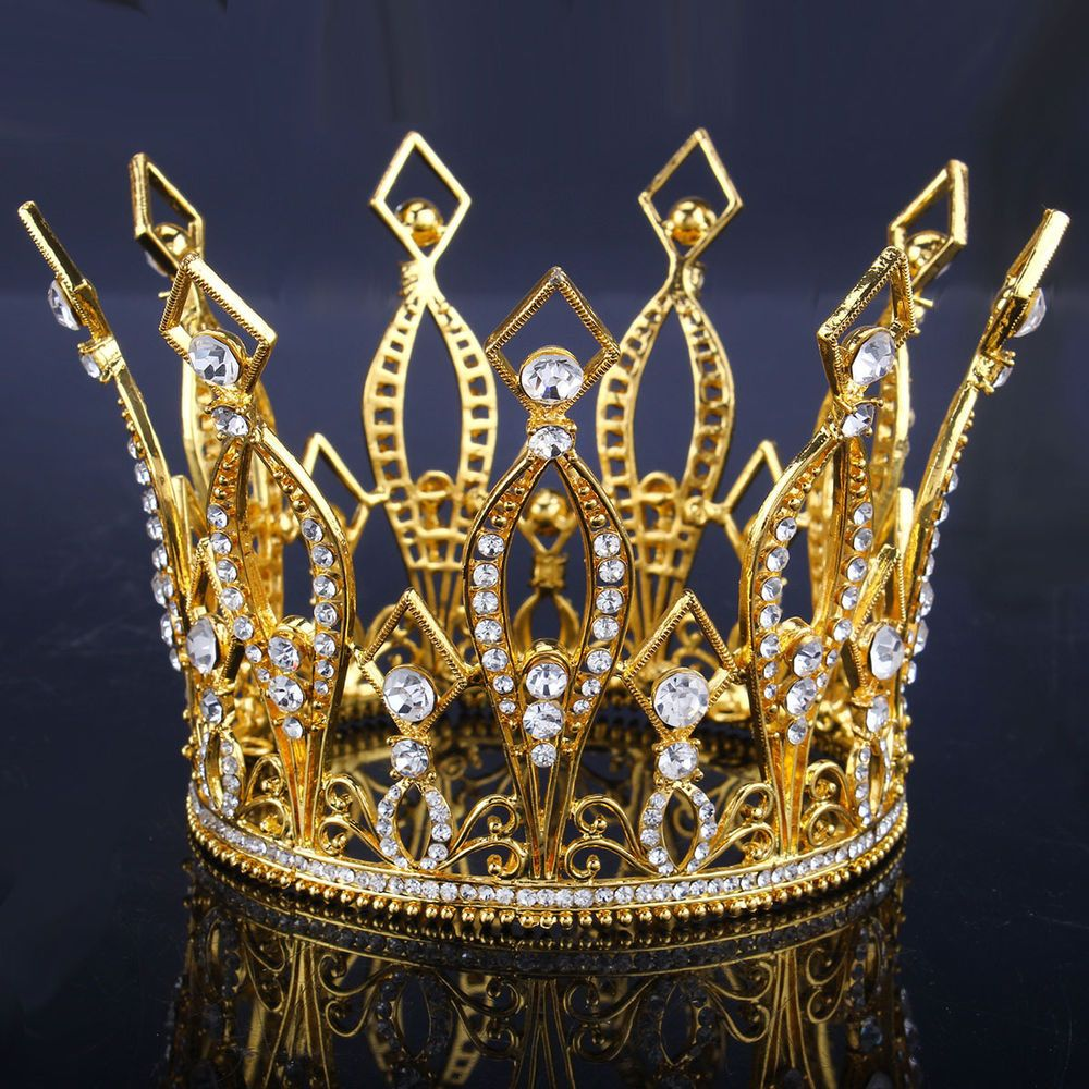 Hairstyles With Crown Queen: Royal Crown Rhinestone Plated Crystal Bridal Shiny Wedding