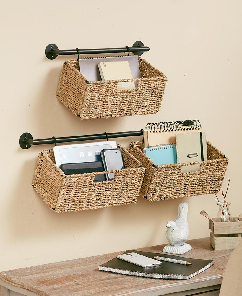 Hanging Seagrass Wall Baskets Baskets On Wall Wall Basket