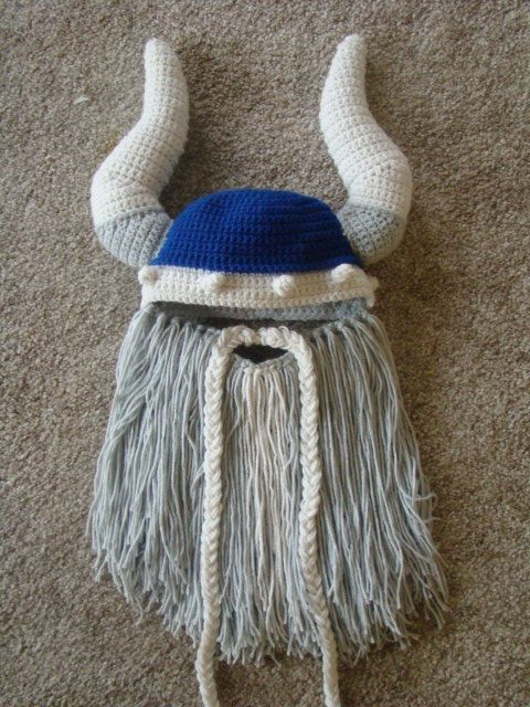 Crochet this viking beard hat to put a smile on the viking lover at ...