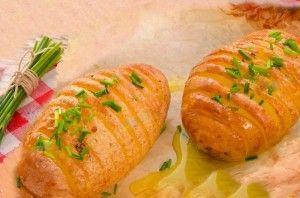 Batatas Hasselback - Receita do Dia