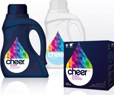Cheer Laundry Detergent Branding Produtos De Limpeza Produtos