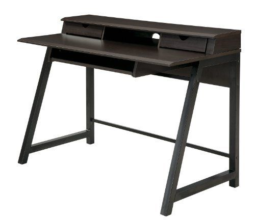 OSP Designs Arcadua Writing Desk by OSP Designs. $149.27. Includes hutch. 2 storage drawers. Large writing surface. Dark oldwood laminate. Large keyboard tray. Arcadua Writing Desk in Dark Wood Finish , stylish modern design and look, featuring limited 90 day warranty from date of purchase.
