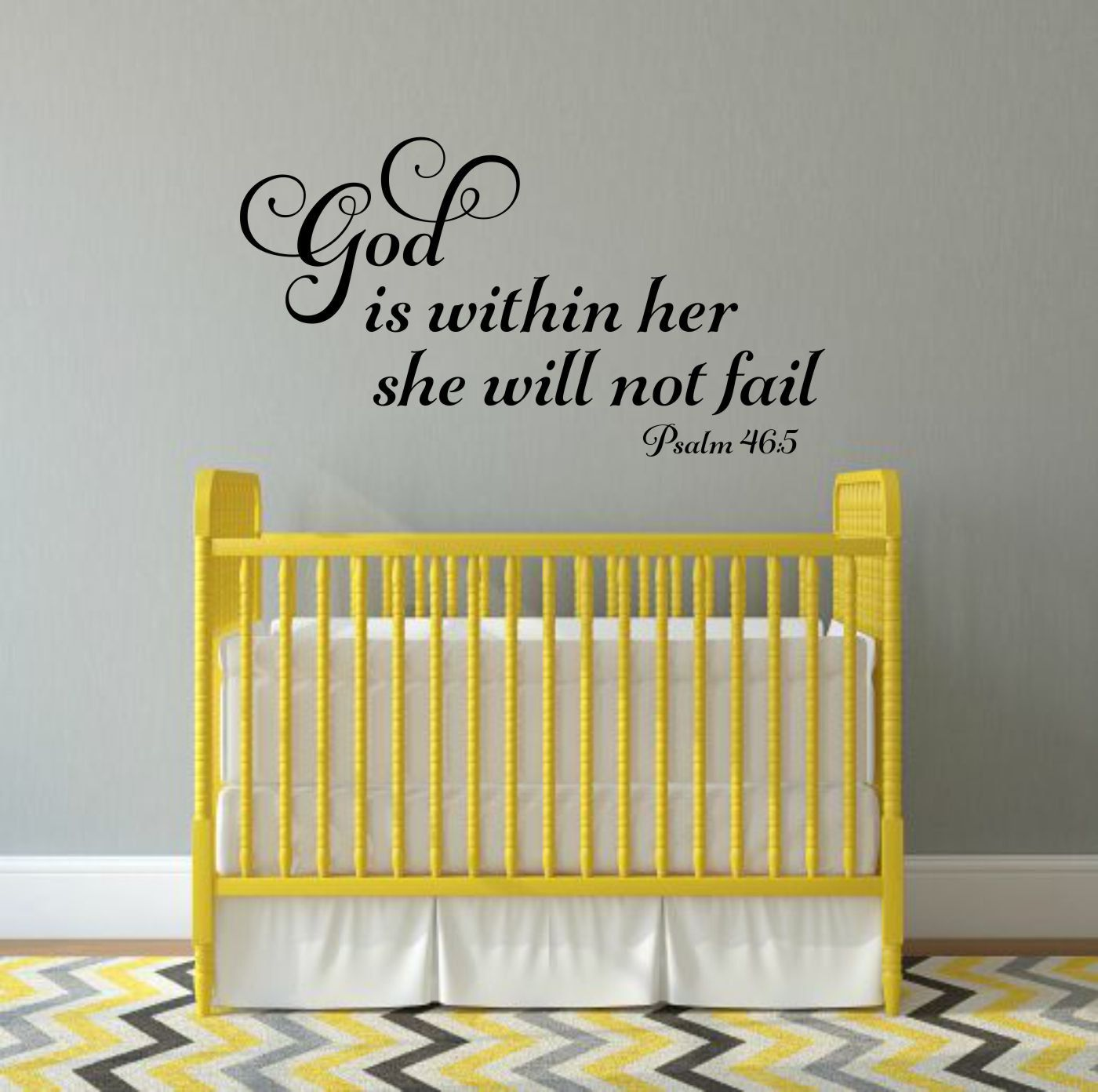 God Is Within Her She Will Not Fail Decal Religious Wall Decal Psalm ...