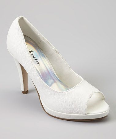 Look what I found on #zulily! White Selina Peep-Toe Pump by Janice #zulilyfinds