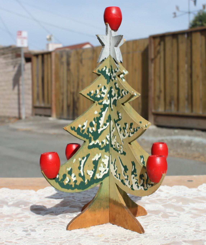 Vintage Swedish Scandinavian Wood Christmas Tree Candle Holder Etsy Christmas Tree Candle Holder Christmas Tree Candles Wood Christmas Tree
