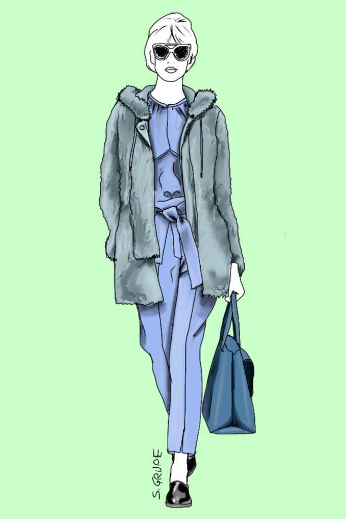 Kleid hellblau farben