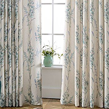 Amazon.com: Curtains Insulated Blackout Lined Drapes   Anady 2 Panel Blue  Sage Room