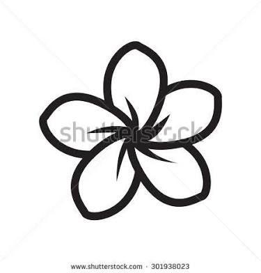 Image Result For Frangipani Line Drawing Flower Stencil Flower Drawing Frangipani