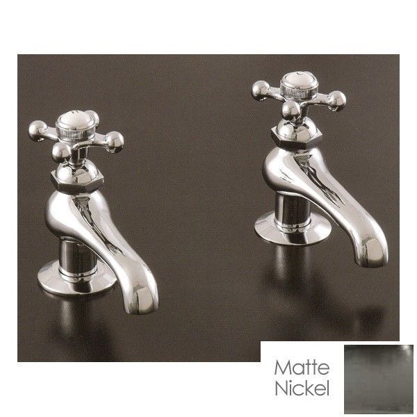 Strom Plumbing Hot & Cold Faucet Set with Metal Cross Handles
