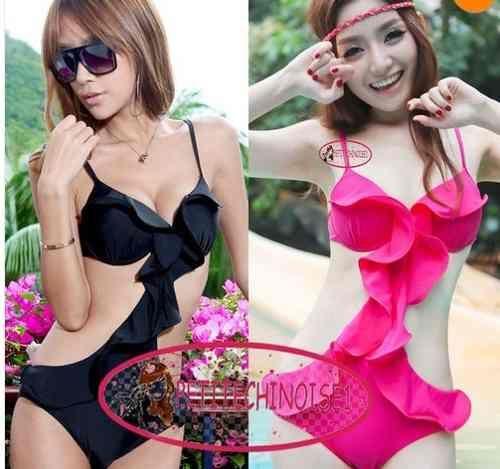 5165cd9642 Bikini Monokini Olanes Push Up Bra Rosa Negro Envio Gratis -   695.00 en  MercadoLibre