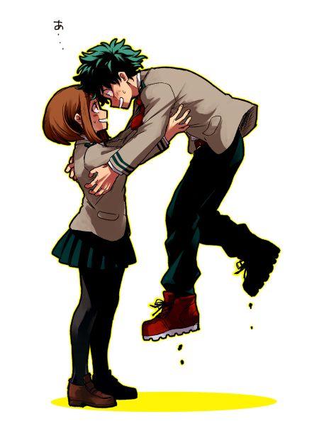 Boku No Hero Academia Midoriya Izuku Ochako Uraraka Deku X Uraraka Boku No Hero Academia My Hero Academia Memes