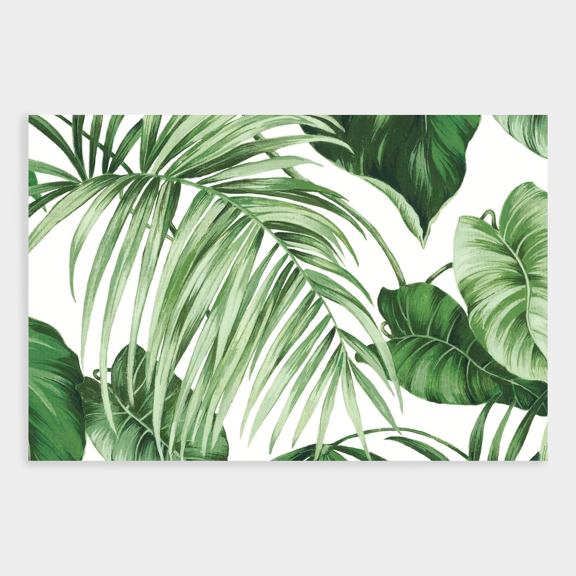 Green And White Leaves Wallpaper Mural 6ftx Leaf Wallpaper Mural Wallpaper Wallpaper