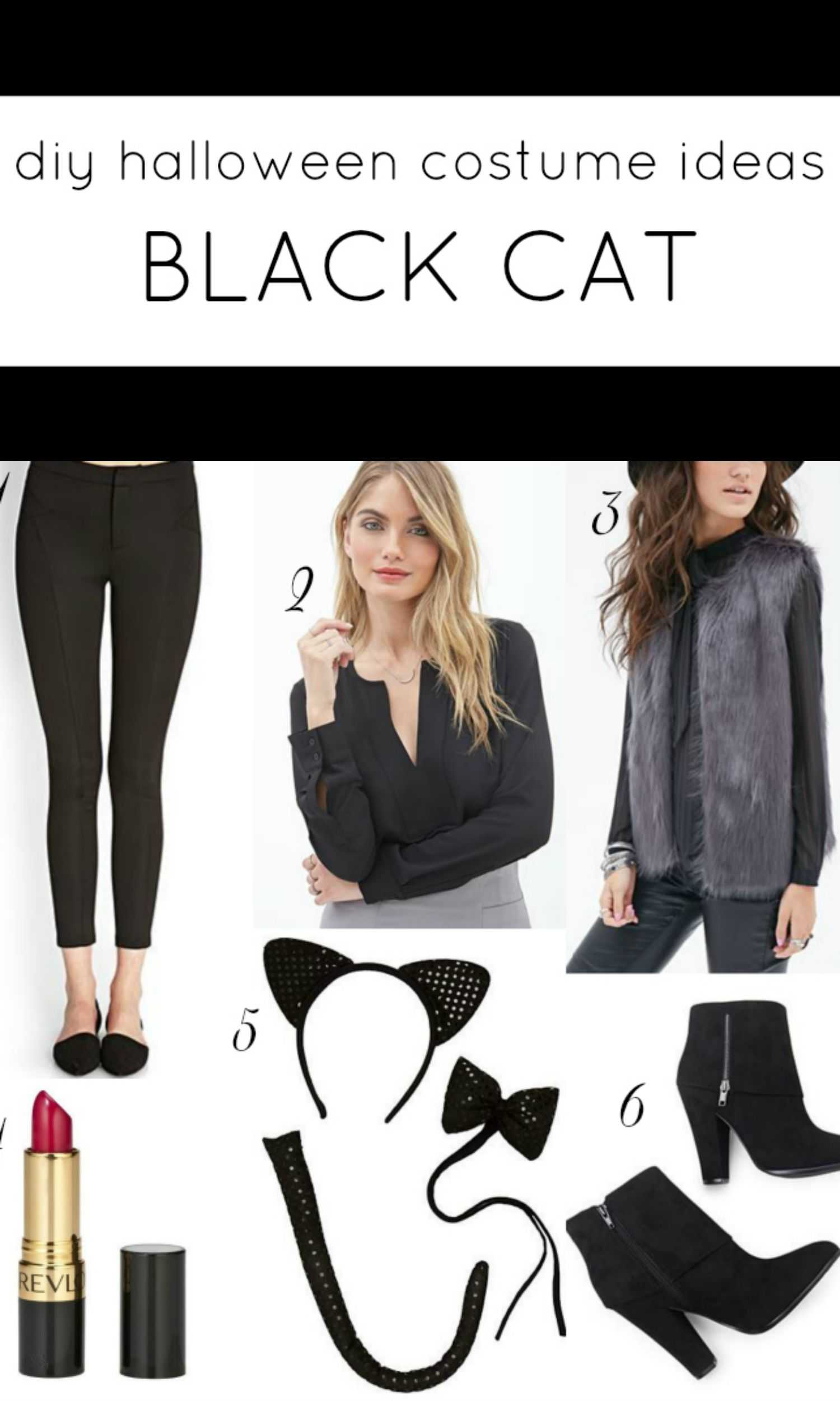 diy chic black cat halloween costume Black cat halloween
