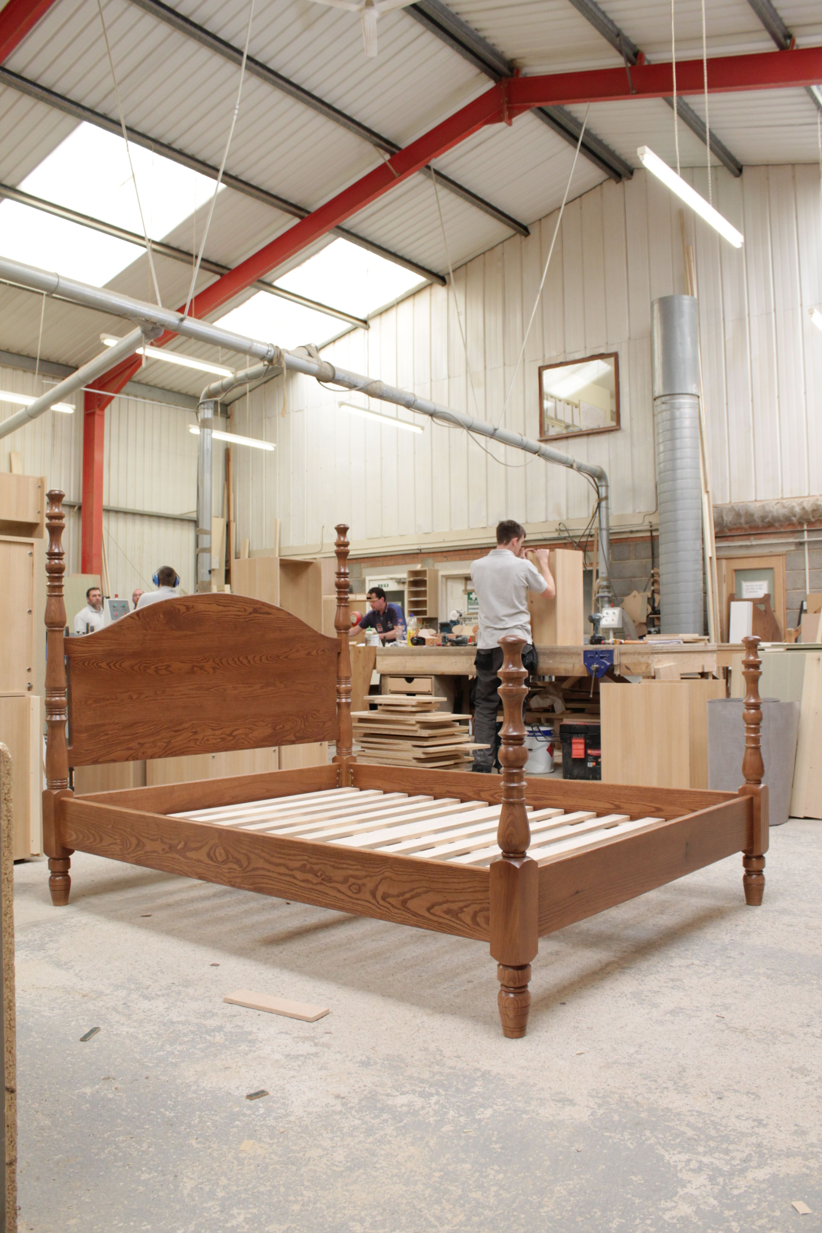 The Bed Assembled In Our Factory #Bespoke #Bed #Design #Finish
