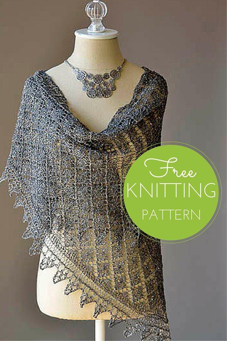 Going Places Shawl Free Knitting Pattern | Knitting patterns, Shawl ...