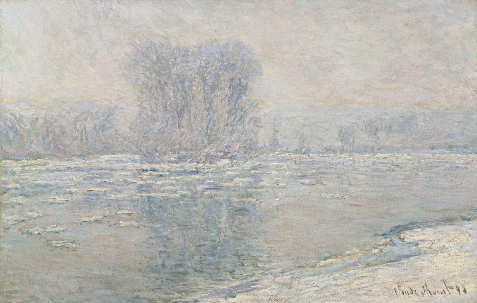 Claude Monet - Glacons, Effet Blanc, 1893, oil on canvas, 65.5 x 100 cm