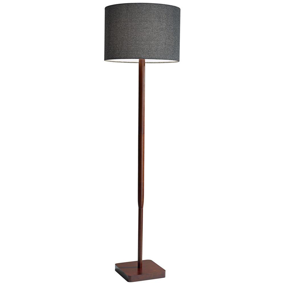 Ellis Walnut Rubberwood Floor Lamp - Style # 12W00