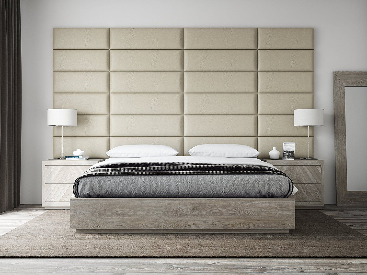 Add Character To Your Bedroom With A Custom Made Headboard Or Padded Wall Panels Like This One Upholstered Walls Upholstered Headboard Upholstered Wall Panels