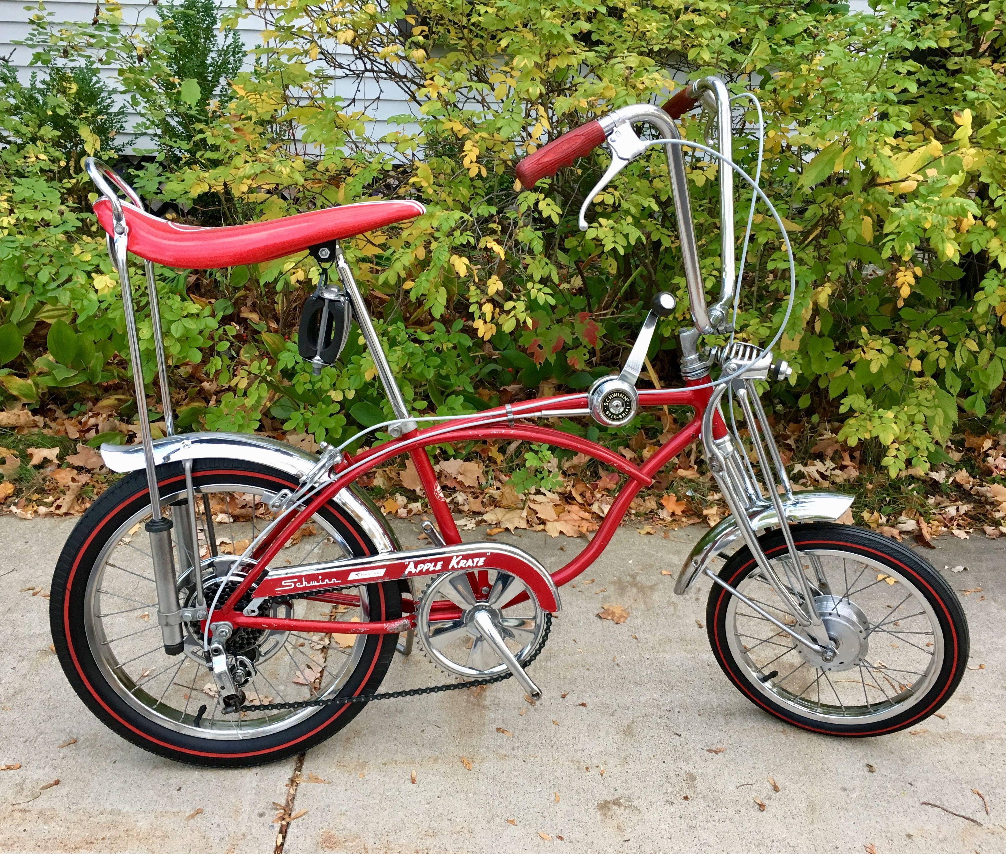 Red Sparkle Vintage Schwinn Stingray Type Bike Grips Lowrider Bicycle Cruiser