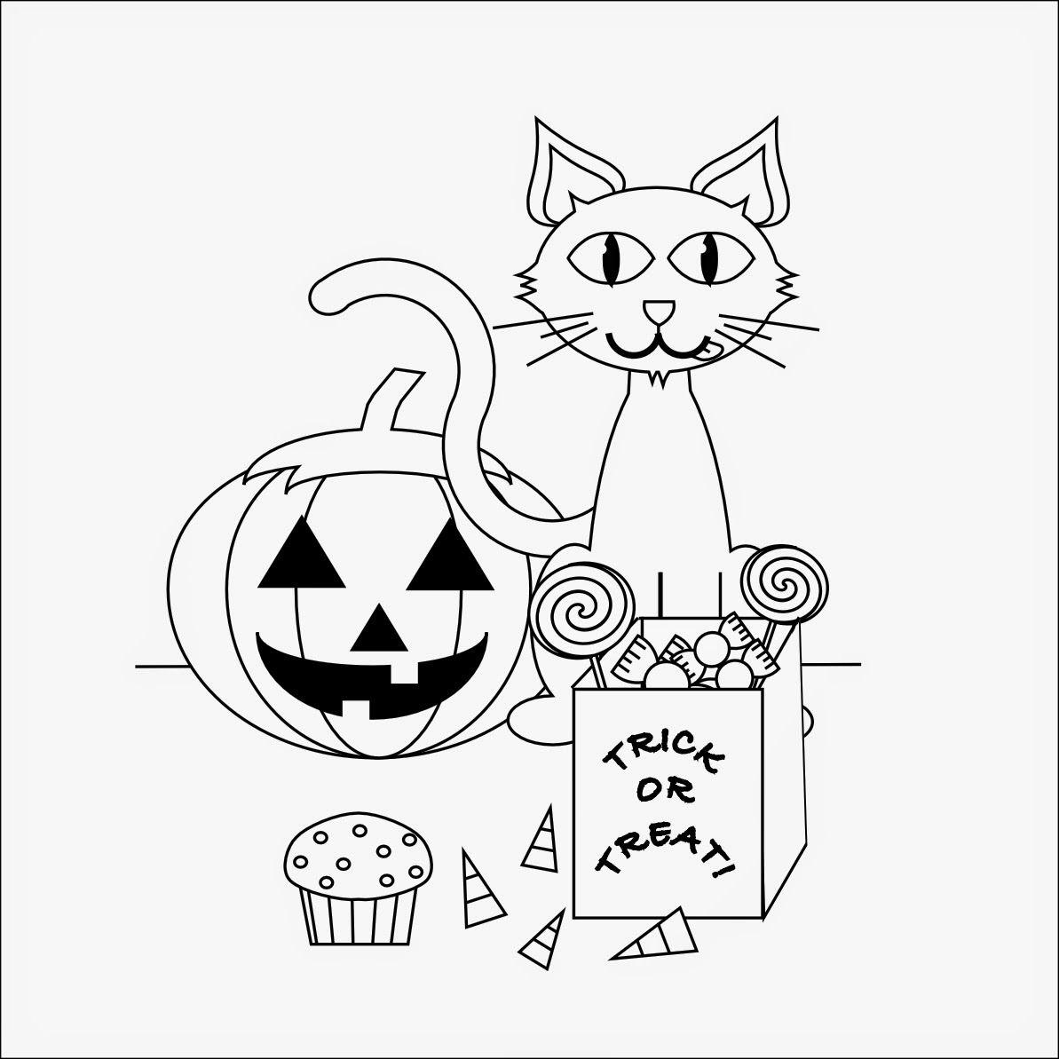 Für die kleinen kinder kostenlose ausmalbilder für halloween