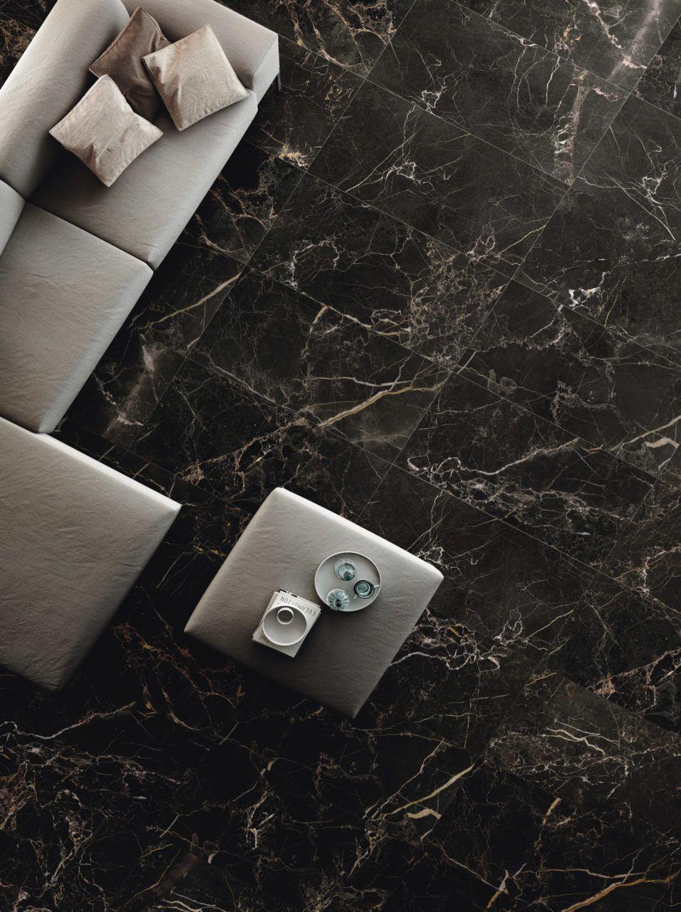 Mimica Nero Portoro Matt Porcelain Tiles Mandarin Stone Living Room Tiles Black Marble Tile Marble Tile Floor