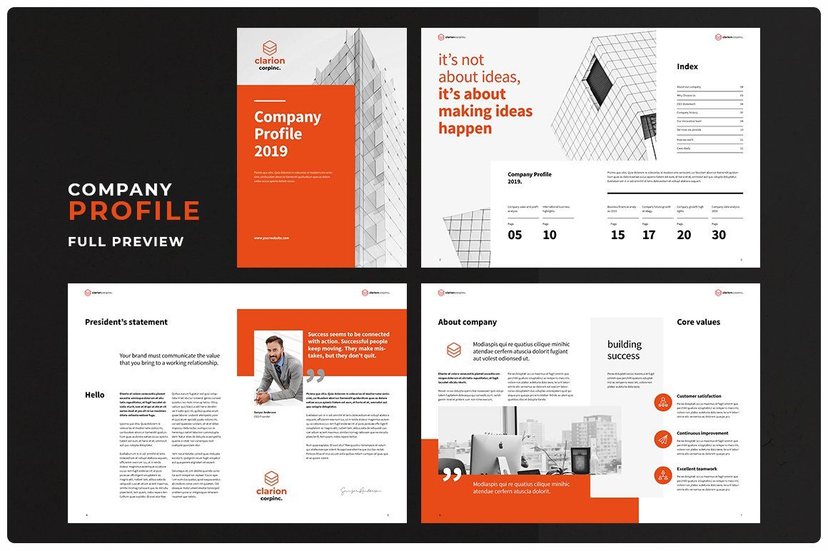 Company profile with images company profile template