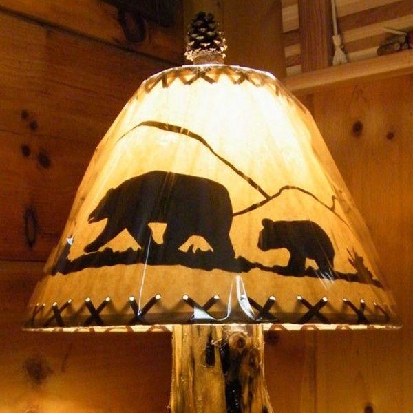 Black Bear Lamp Shade Antique Lamp Shades Rustic Lamp Shades Lamp