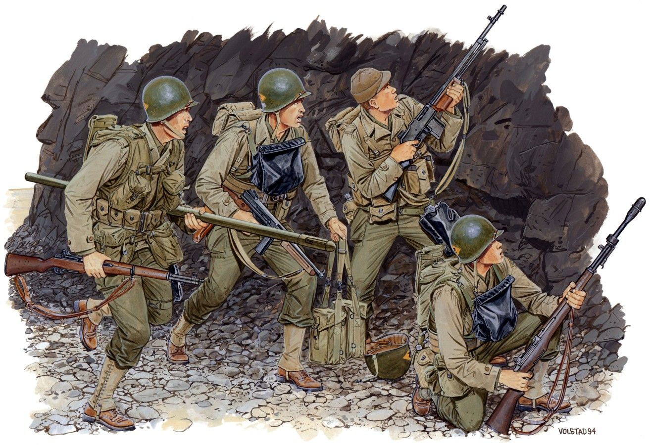 Day reenactment ww ii pictures pinterest - The Dragon Us Rangers Normandy 1944 D Day From The Plastic Military Model Kits Range Accurately Recreates The Real Life Us Soldiers From World War Ii