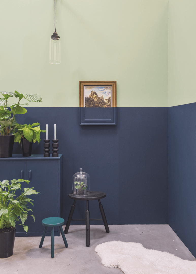 Histor Blauw Woontrends 2018 Gnezdo House Colors Two Tone Walls En Room