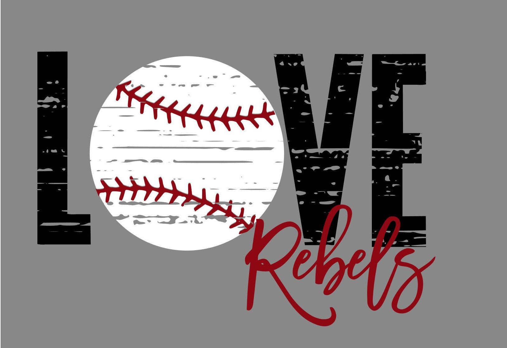 Download Love Distressed Baseball Rebels SVG   Iron on transfer ...