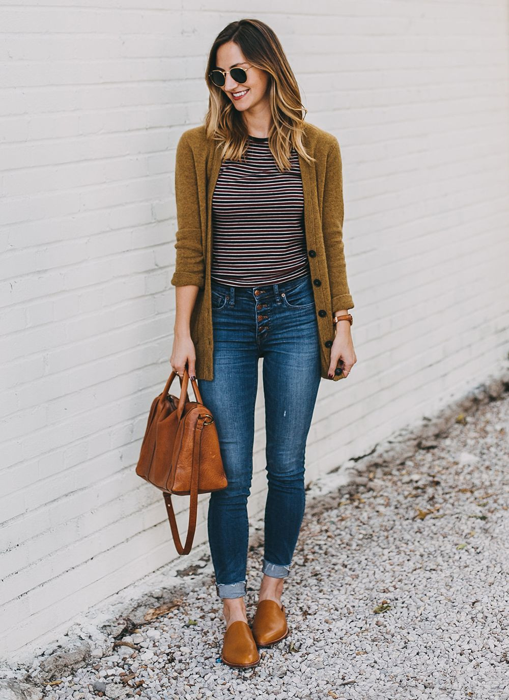 abe03b90491e livvyland-blog-olivia-watson-austin-texas-fashion-lifestyle-blogger-madewell-grandpa-cardigan-button-up-high-rise-skinny-jeans-tan-leather-slides-fall-  ...