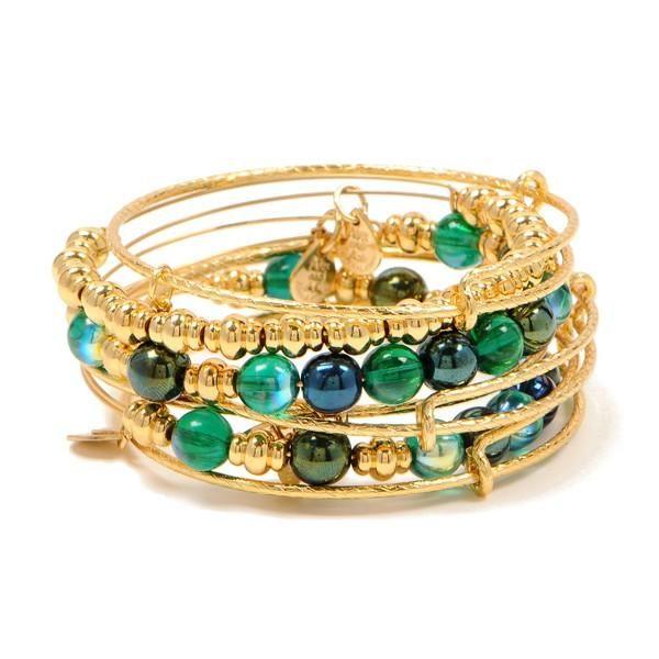 Alex Ani Harem Set In Emerald Yellow